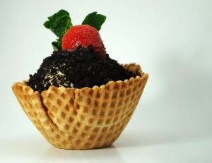 Mantecado Oreo Crumb Strawberry